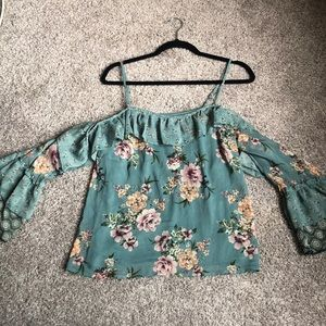 Floral Blouse by Xhilaration Size Small